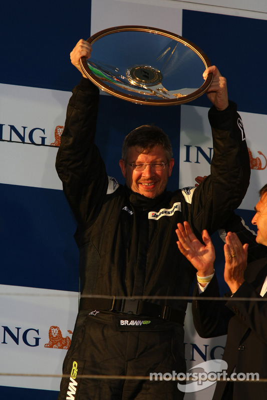 Podium: Ross Brawn Brawn Grand Prix Team Principal