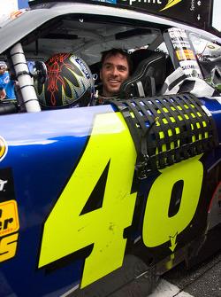 Victory lane: le vainqueur Jimmie Johnson, Hendrick Motorsports Chevrolet, célèbre sa victoire