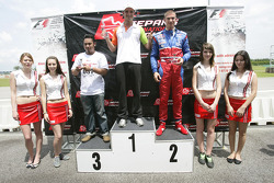 F1 Fun Kart Challenge: Vitantonio Liuzzi, Force India and Edoardo Mortara on the podium