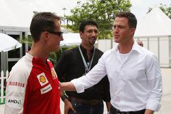 Michael Schumacher, Scuderia Ferrari with his brother Ralf Schumacher, DTM driver
