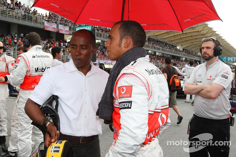 Anthony Hamilton, Father of Lewis Hamilton and Lewis Hamilton, McLaren Mercedes