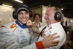 Jan Charouz and David Richards celebrate win