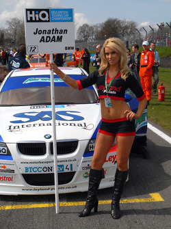 Jonny Adam's grid girl