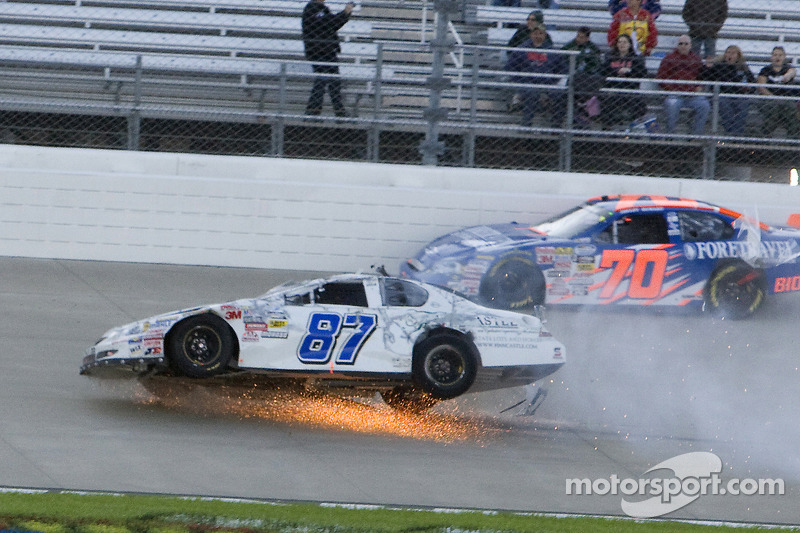 Joe Nemechek Crashes At Nashville