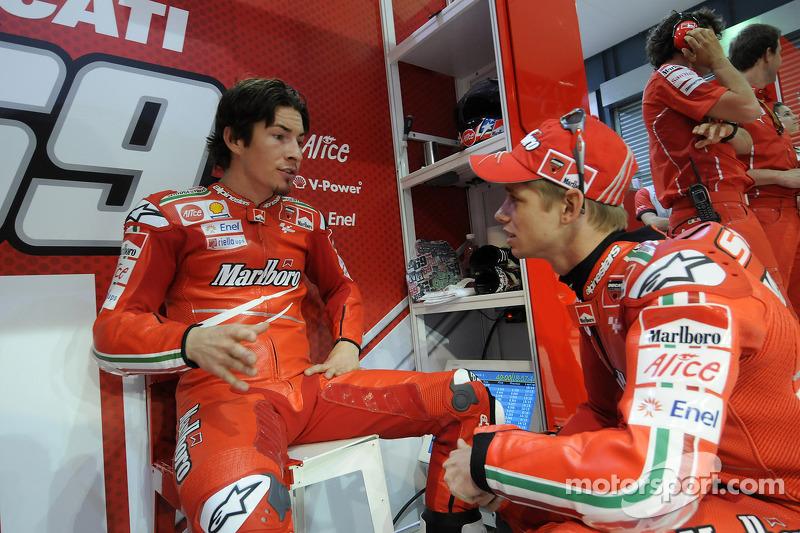 Nicky Hayden, Ducati Marlboro Team, and Casey Stoner, Ducati Marlboro Team