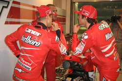 Casey Stoner, Ducati Marlboro Team, and Nicky Hayden, Ducati Marlboro Team