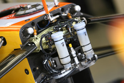 Renault, suspension, detail