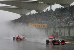 Lewis Hamilton, McLaren Mercedes et Kimi Raikkonen, Scuderia Ferrari