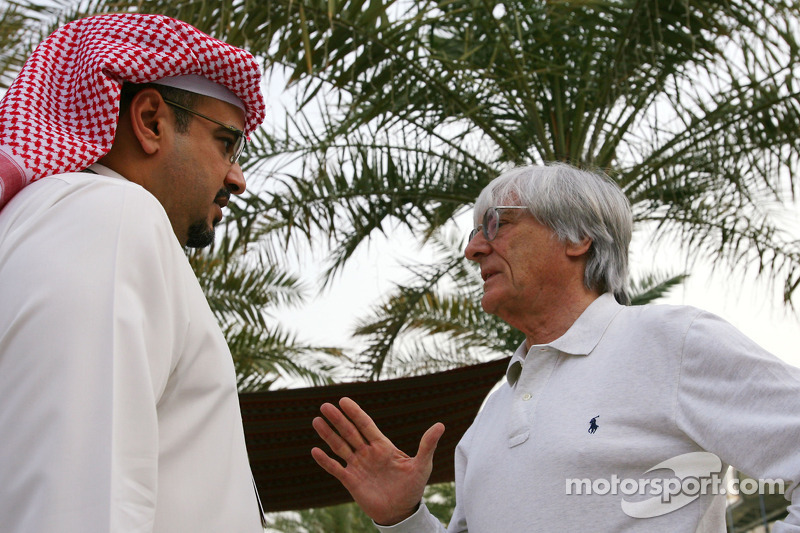 Abdulla bin Isa Al Khalifa en Bernie Ecclestone