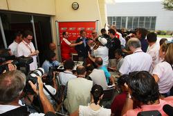 Luca di Montezemolo, Scuderia Ferrari, FIAT Chairman and President of Ferrari being interviewed