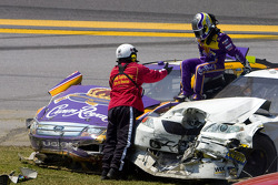 Jamie McMurray, Roush Fenway Racing Ford after the crash