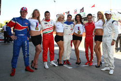 Dan Clarke, driver of A1 Team Great Britain with Daniel Morad, driver of A1 Team Lebanon Neel Jani, driver of A1 Team Switzerland, Filipe Albuquerque, driver of A1 Team Portugal and Vitantonio Liuzzi, driver of A1 Team Italy with the help for Heros girls