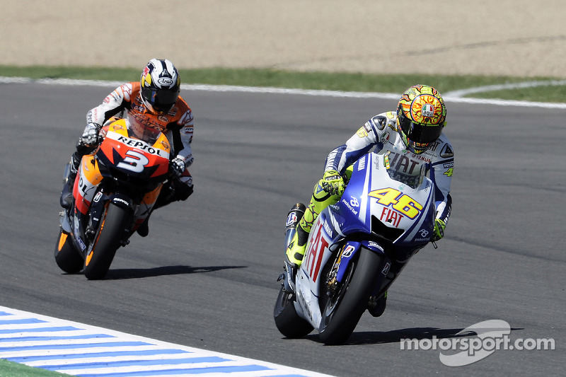 Valentino Rossi, Fiat Yamaha Team y Dani Pedrosa, Repsol Honda Team