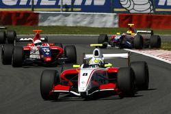 #8 Prema Power Team: Frankie Provenzano, #19 Mofaz Fortec Motorsport: Fairuz Fauzy, out of the grass, #20 Mofaz Fortec Motorsport: Sten Pentus