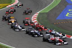 Start: Timo Glock, Toyota F1 Team, Nick Heidfeld, BMW Sauber F1 Team