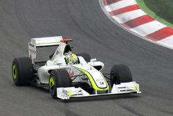 Le vainqueur de la course, Jenson Button, Brawn GP