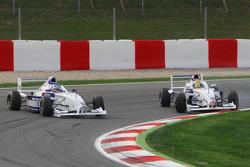 Jack Te Braak, Muecke Motorsport and Olivier Lombard, Eurointernational crashing
