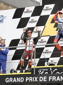 Podium: second place Marco Melandri, Hayate Racing Team