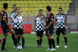 Star Team vs Nazionale Piloti, Charity Football Match, Monaco, Stade Louis II: Jarno Trulli, Toyota F1 Team, Felipe Massa, Scuderia Ferrari, Fernando Alonso, Renault F1 Team