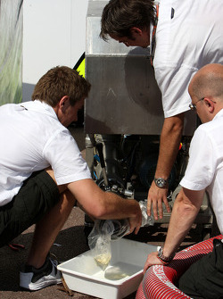 The refueling rig of Brawn GP