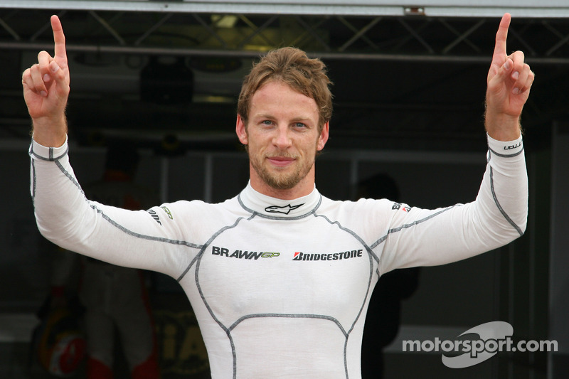 Ganador de la Pole Position Jenson Button, Brawn GP