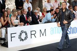 Lewis Hamilton, McLaren Mercedes at the Fashion show