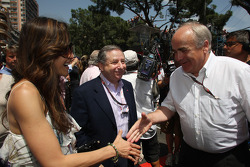 Jean Todt, Scuderia Ferrari, Ferrari CEO with his wife Michelle Yeoh and Karl-Heinz Zimmerman