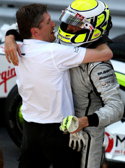 Nick Fry, BrawnGP, Chief Executive Officer, Jenson Button, Brawn GP, wins the race