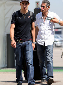 A big meeting of all Team Principles and all F1 drivers is held in the Toyota motorhome: Sebastien Buemi, Scuderia Toro Rosso