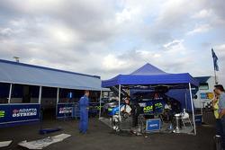 Service area of Mads Ostberg, Subaru Impreza WRC 08