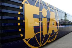 The FIA motorhome in the paddock