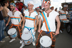 Drummers in the paddock