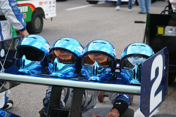 Crew helmets for the Luczo Dragon Racing Team