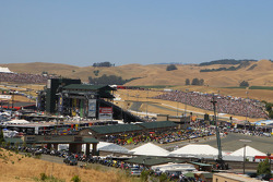 Sears Point fans watch pre-race ceremony