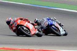 Кейсі Стоунер, Ducati Marlboro Team, Хорхе Лоренсо, Fiat Yamaha Team