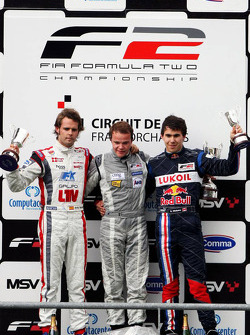 Andy Soucek, Tobias Hegewald and Robert Wickens on the podium