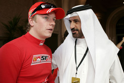FIA's Vice-President for sport and 14-time Middle East Rally Champion Mohamed Ben Sulayem with Kimi Raikkonen