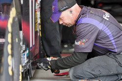 The FedEx Freight crew work on their Toyota Camry
