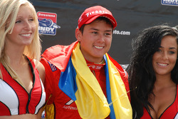 Podium: race winner Sebastian Saavedra
