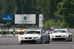 #90 BMW Rahal Letterman Racing Team BMW E92 M3: Bill Auberlen, Joey Hand heads to pace laps