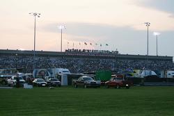 The sun sets over O'Reilly Raceway Park