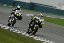 Colin Edwards, Monster Yamaha Tech 3 leads Randy De Puniet, LCR Honda MotoGP