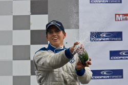 Podium celebrations: second place Adriano Buzaid