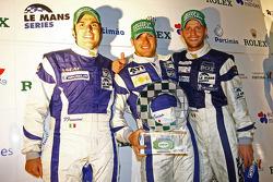 Podium: Michelin Green Challenge LMP2 winners Filippo Francioni, Andrea Ceccato, Giacomo Piccini