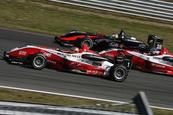 Jules Bianchi, ART Grand Prix Dallara F308 Mercedes, Valtteri Bottas, ART Grand Prix Dallara F308 Mercedes, Roberto Merhi, Manor Motorsport Dallara F308 Mercedes