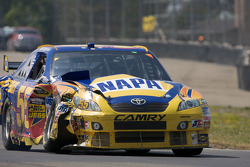 Patrick Carpentier, Michael Waltrip Racing Toyota with major damage