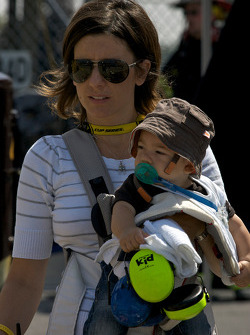 Tatiana, wife Max Papis, Germain Racing Toyota with her cute kid