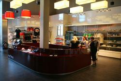Nurburgring fan shop in the fan zone boulevard, part of the new Ring Werk