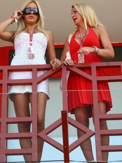 Girls in the paddock club
