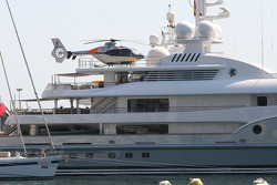 New boat of Mansour Ojeh, Commercial Director of the TAG McLaren